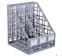 Лоток для бумаг сборный вертикальный 3 отделения Серый
