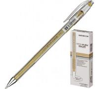 Ручка гелевая Crown Hi-Jell Metallic металлик Золото