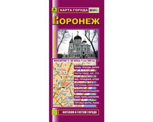 Карта города Воронеж