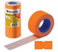 Этикет-лента 21х12мм BRAUBERG прямоугольная оранжевая