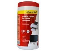 Туба с чистящими салфетками Silwerhof универсальные (100 штук)