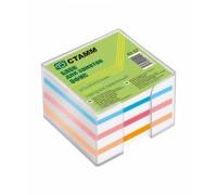 Блок бумажный для записей цветной 9*9*5см в подставке
