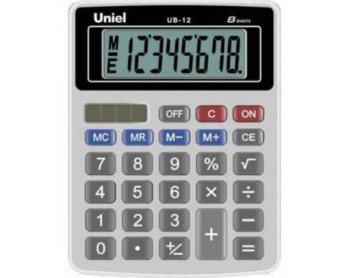 Калькулятор UB-12K UNIEL, черный 8 разрядов