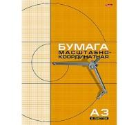 Бумага масштабно-координатная 8 листов А3 Рыжая сетка