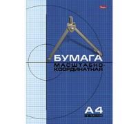 Бумага масштабно-координатная 16 листов А4 Голубая сетка