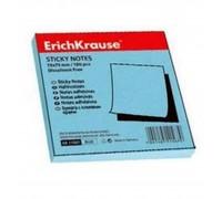 Бумага для записей с липким краем 75*75мм Erich Krause голубая