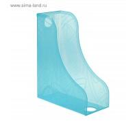 Лоток для бумаг вертикальный тонированный голубой