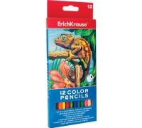 Карандаши цветные 12 цветов Erich Krause треугольные