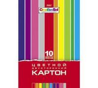Картон цветной А4 10 листов 10 цветов Creative Set
