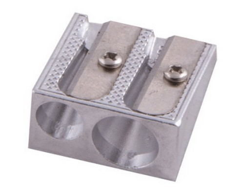 Точилка металлическая Proff на два отверстия