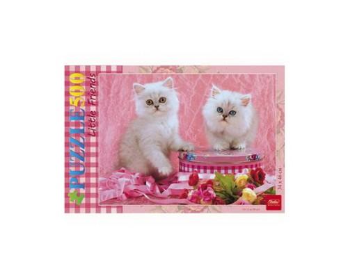 ПАЗЛ 500 элементов Белые котята