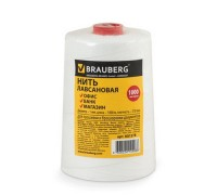 Нить для прошивки документов BRAUBERG, диаметр 1мм, длина 1000м