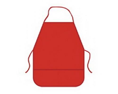 Фартук для труда BG красный для девочки