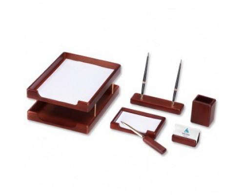 Набор настольный подарочный деревянный 6 предметов Good Sunrise Орех коричневый