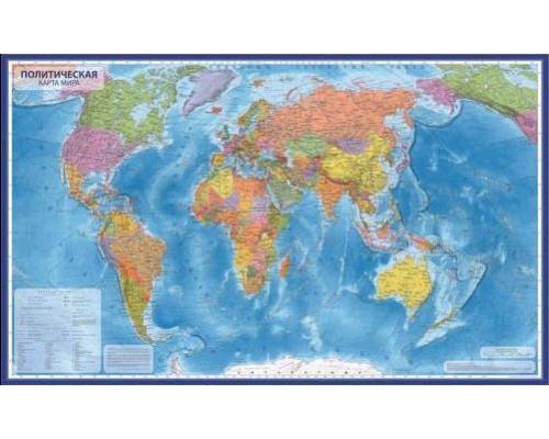 Карта Мир Политический 1:32М 101х70 (с ламинацией) в тубусе КН041
