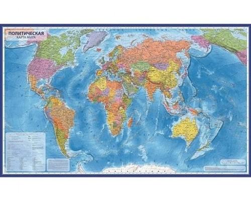 Карта Мир Политический 1:55М 59х40 КН024
