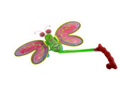 Каталка с ручкой Бабочка 36см 106-40
