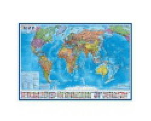 Карта Мир Политический 1:21,5М 157х107 арт.КН062 без ламинации