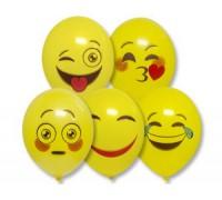 """Воздушные шары Эмоции Смайлик 2 цвета 14"""" 1шт"""