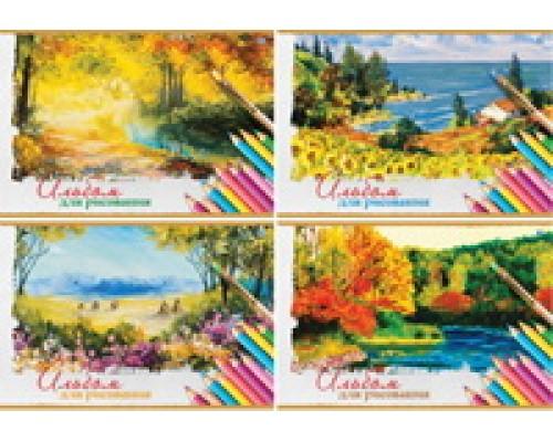 Альбом для рисования 12 листов Art of nature (ассорти)