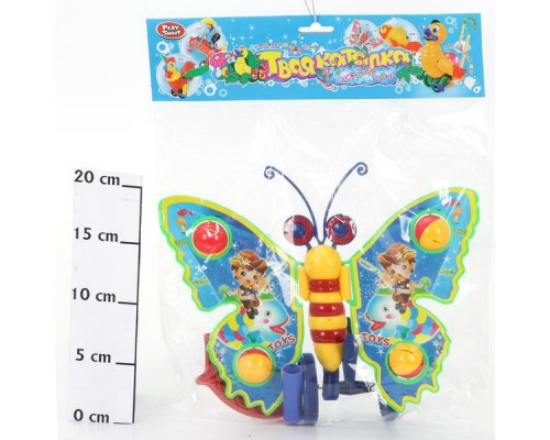 Каталка Бабочка большая с ручкой 1200.