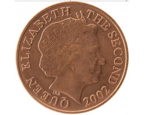 БЕЗ СКИДКИ Монета 1 пенни Джерси 20хх Елизавета пожилая