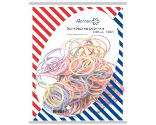 Банковская резинка 1000г. Attomex 60мм цветные