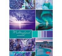 Тетрадь на кольцах 160 листов со сменными блоками Разноцветный мир