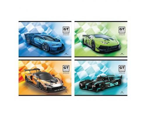 Альбом для рисования 12 листов GT race (ассорти)