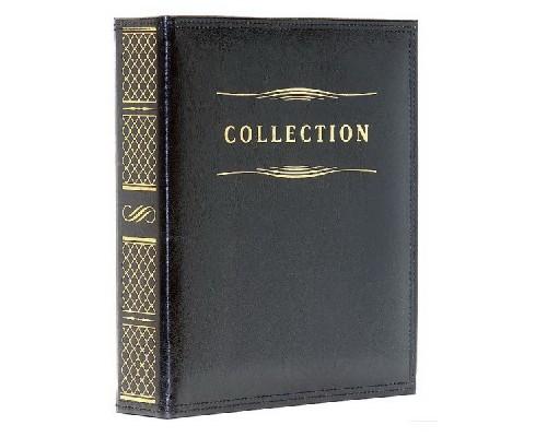 """Альбом для монет на кольцах Премиум, 218*270, """"COLLECTION"""" к/з ,черн. Премиум 61АМП"""