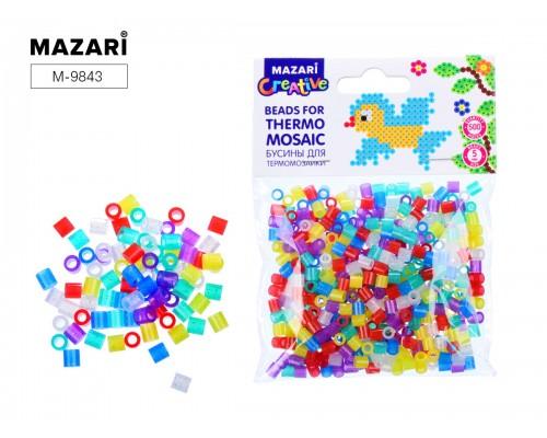 Бусины для термомозаики с блестками 5х5 мм , 500 шт, 6 цветов
