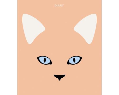 Ежедневник (недатированный) 146х167 128 листов интегральная обложка Милая мордашка. Кот