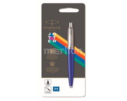 Ручка Parker шариковая Jotter Color (2076052) синий M синие чернила блистер
