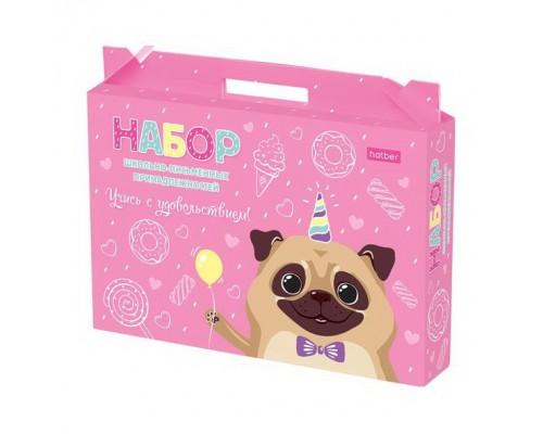 Набор для ШКОЛЬНИКА Учись с удовольствием Улыбнись! в подарочной коробке