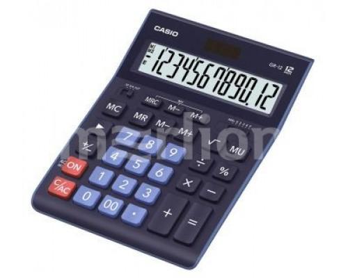 Калькулятор Casio GR-12BU настольный, темно-синий 12 разрядов