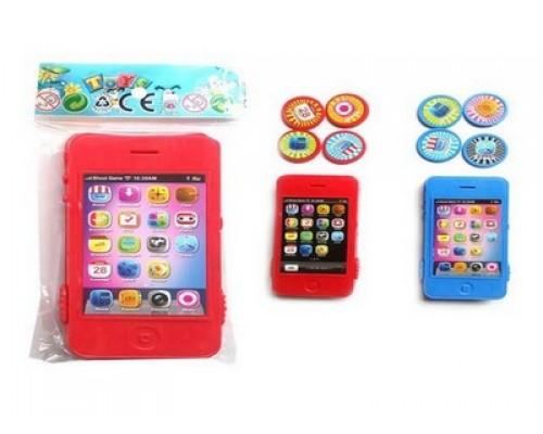 Телефон-дископлюй цветной в пакете,46619
