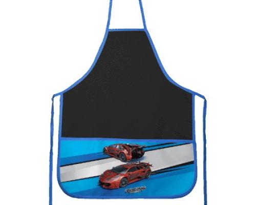Фартук deVENTE Racing 45x54 см (M) водоотталкивающая ткань, 3 кармана с рисунком, черный