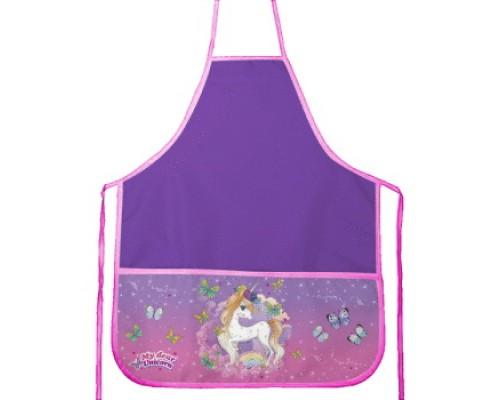 Фартук deVENTE Unicorn 45x54 см (M) водоотталкивающая ткань, 3 кармана с рисунком, фиолетовый