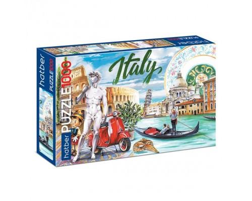 ПАЗЛ 1000 элементов Вокруг света- Италия