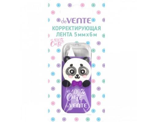 "Корректирующая лента 100% Cute. Panda"" 5ммx6м сиреневый непрозрачный корпус"