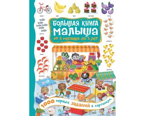Большая книга малыша: от 6 месяцев до 3 лет 1000 первых заданий в картинках