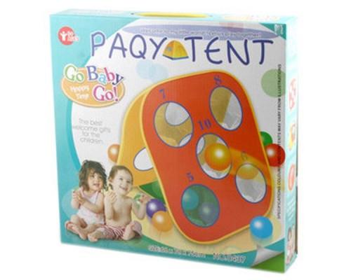 Домик детский игровой 68*78*75см. Палатка с пласт.шарами .0437