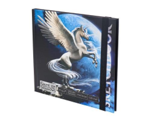 Скетчбук 160х160 Единорог 7БЦ, мат лам+выб лак, 40л, 120г, черная бумага С40-4
