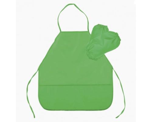 Фартук deVENTE 45x54 см (M), водоотталкивающая ткань, 3 кармана, с нарукавниками, салатовый