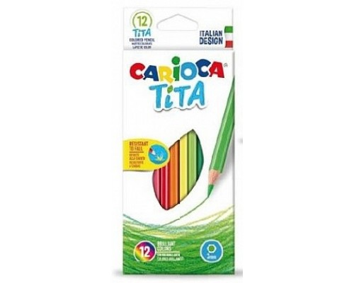 Карандаши 12 цветов Carioca Tita 42793