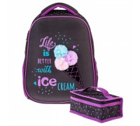 Рюкзак Hatber ERGONOMIC light Ice cream для девочки начальная школа