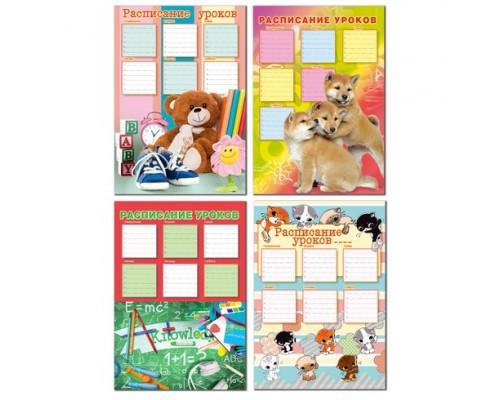 Расписание уроков А4 MIX - Девочки (ассорти) вертикальное