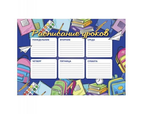 Расписание уроков А4 56829 ПОРА В ШКОЛУ