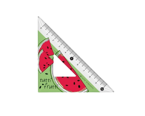 "Кан.Треугольник 45град.""HappyGraphix. Fresh & fruity. Арбуз"" шкала по двум катетам"