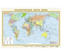 Карта мира политическая А1 одностороняя